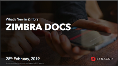premium selection b6f3f 62d3a Zimbra Docs Webinar 28 February, 2019