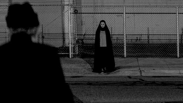 A Girl Walks Alone at Night