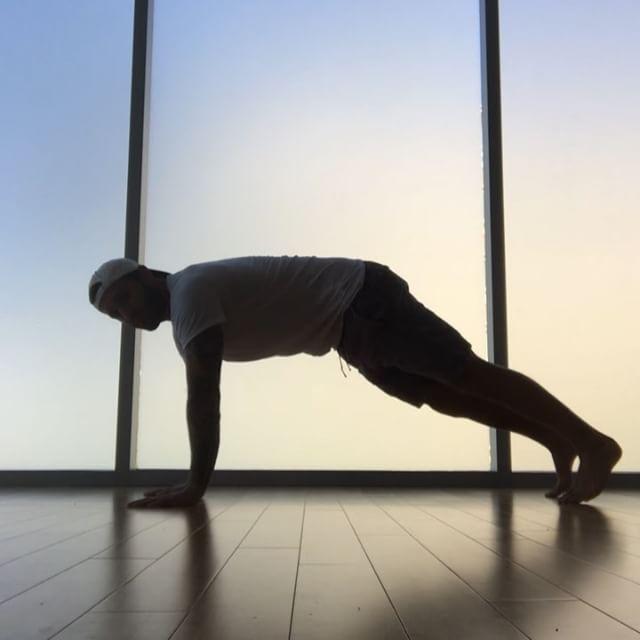 Yoga thoughts while wearing @aloyoga Calvin Corzine