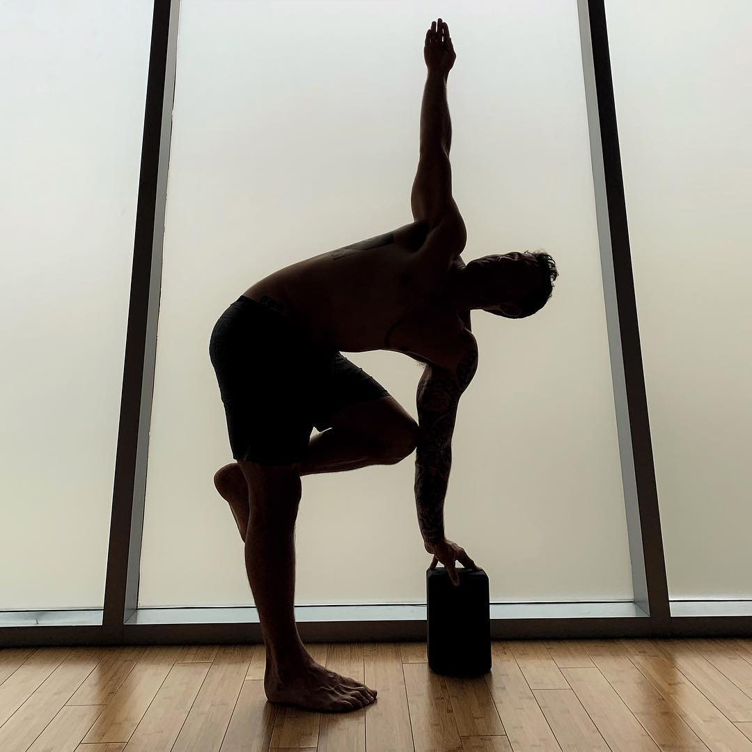Variation of twisting Ardha, give it a go, esp if you're having back issues. Calvin Corzine Yoga