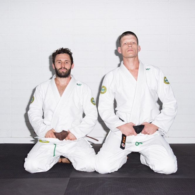 Training partner since day 1, love him - Calvin Corzine Yoga