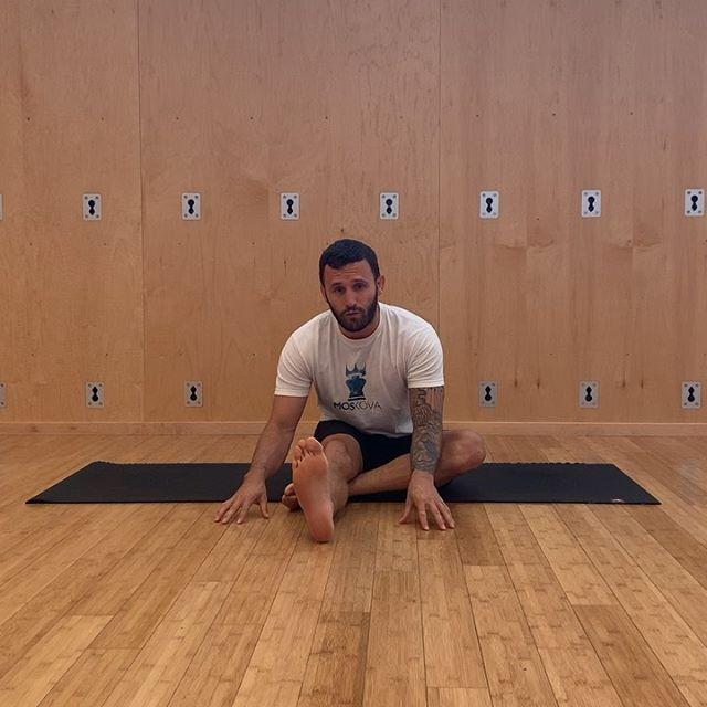 Janu sirsana variation, give it a go - Calvin Corzine Yoga