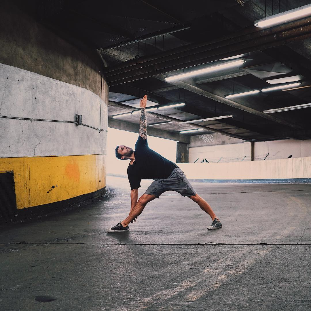 Let's make the Triangle Pose great again yeah? Calvin Corzine Yoga