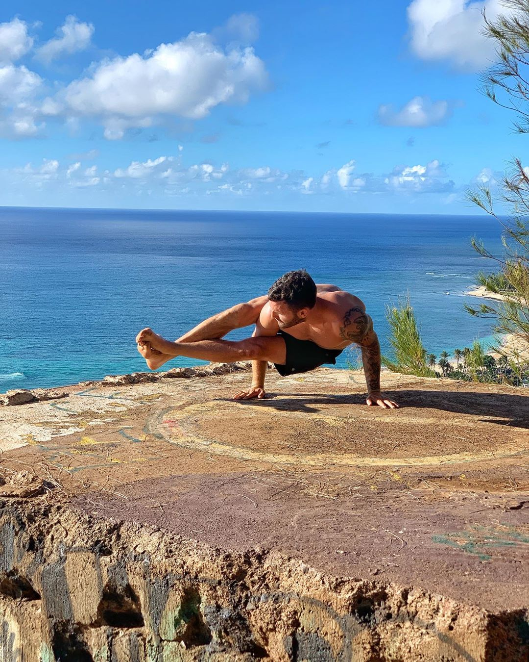 "Does yoga poses a few times, calls himself a ""yogi"" - Calvin Corzine Yoga"