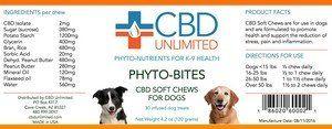 Soft Dog Chews CBD Unlimited Phytonutrients