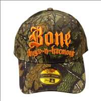 CAMO ORANGE LOGO BONE THUGS N HARMONY SNAPBACK