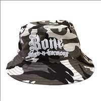 BUCKET CAMO HAT WHITE LOGO BONE THUGS N HARMONY