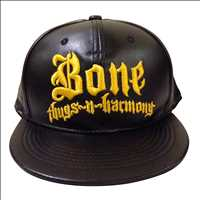 BONE THUGS N HARMONY BLACK PU GOLD SNAPBACK