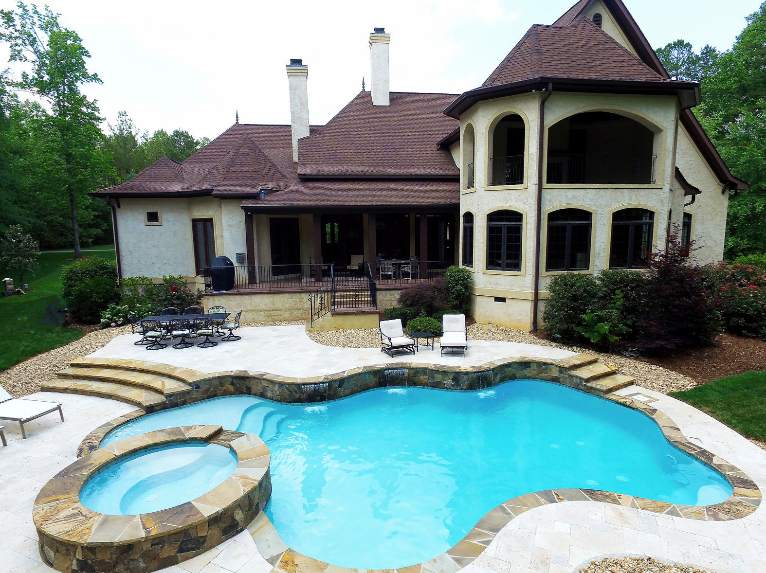 Huntersville nc concrete pool builder cpc pools answers - Concrete swimming pools vs fiberglass ...