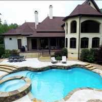 Huntersville North Carolina Custom Concrete Pool Installation from CPC Pools Call us at 704-799-5236