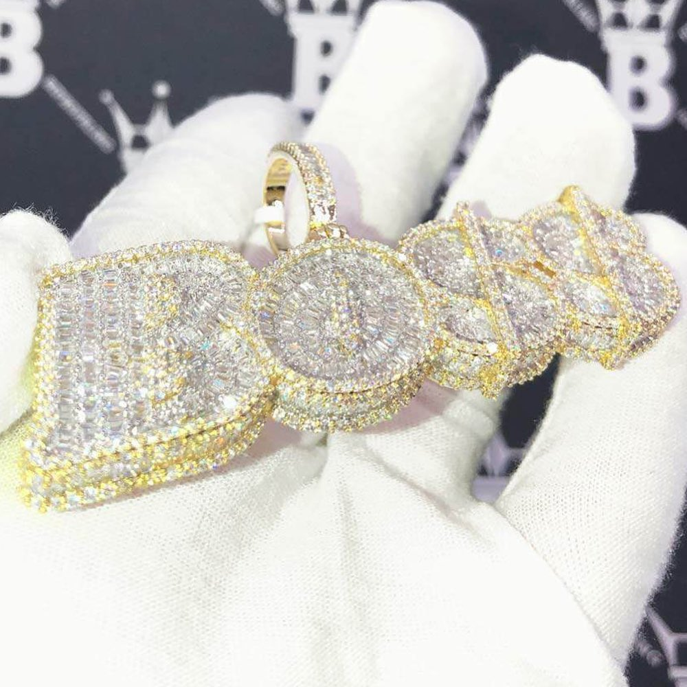 Custom ice fresh out of the oven, hit up HipHopBling.com for your own unique pieces.