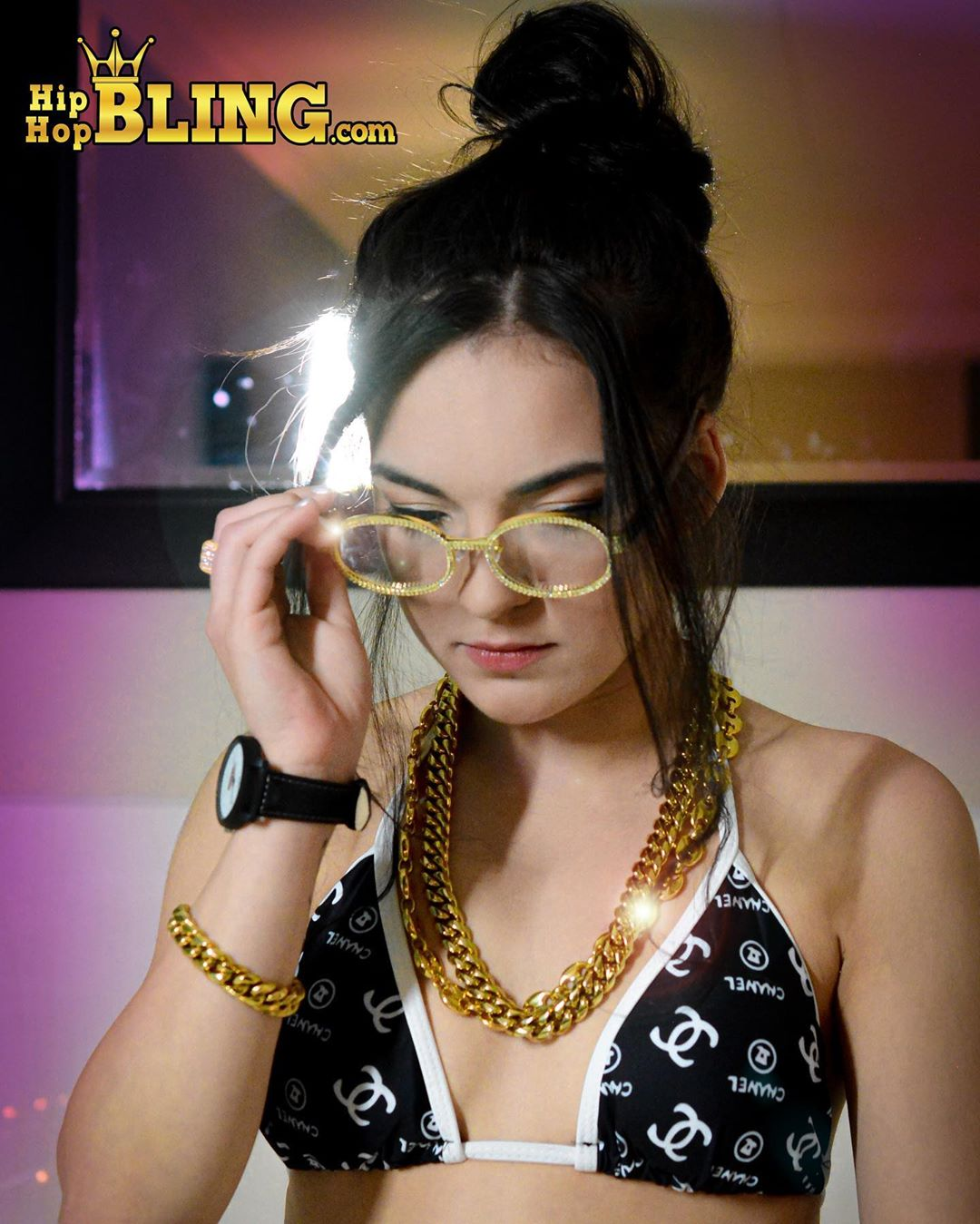 CZ iced out glasses, get your specs at Hip Hop Bling, the premier provider of hip hop jewelry