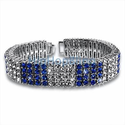 Color Ice Bling Bling Bracelet Blue