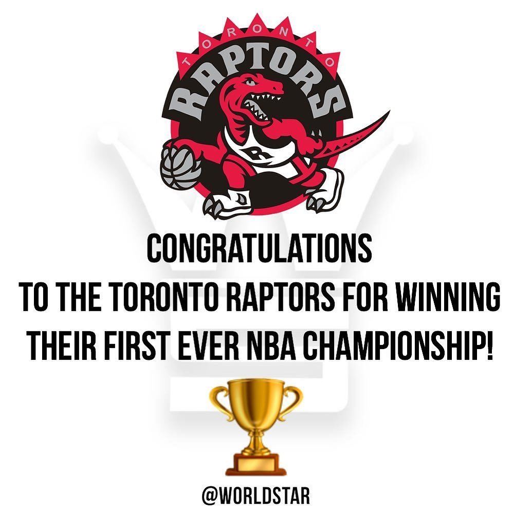 Grats to the Raptors for their FIRST NBA CHAMPIONSHIP BAYBEEE - Hip Hop Bling Show