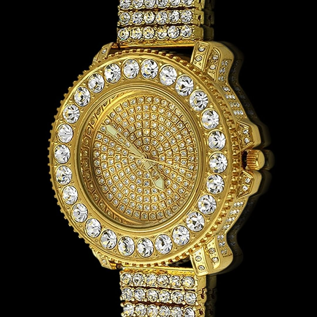 If there's no ice, is it even bling? Drippin' iced out watch from Hip Hop Bling