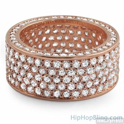 Rose Gold Bling Bling Ring
