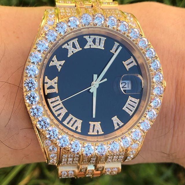 Wrist game STRONG, grab an iced out watch today from Hip Hop Bling