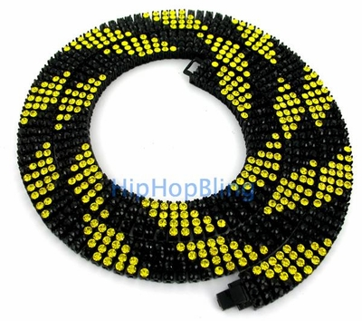 Black And Yellow Bling Bling Chain