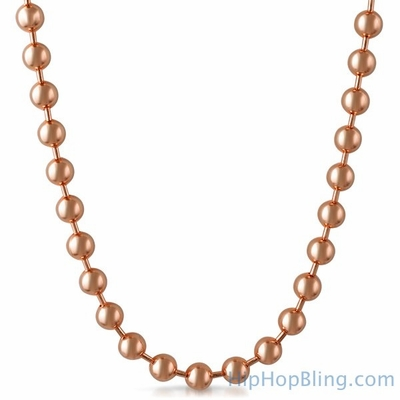 Rose Gold Bead Necklace