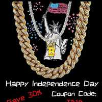 Happy Independence Day, get 30% off your purchase - Hip Hop Bling