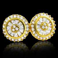 Shine on em with radiant baguette earrings from Hip Hop Bling