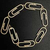 Iced paperclip bracelet, fresh product from Hip Hop Bling