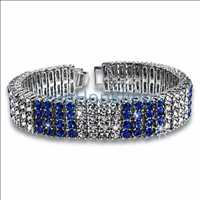 Color Ice Bling Bling Bracelet Blue