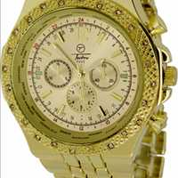 Gold Bling Bling Watch