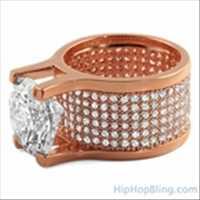 Rose Gold Hip Hop Ring