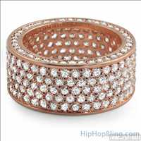 Rose Gold Bling Bling Ring