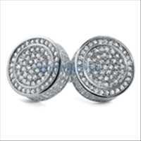 Custom Micro Pave CZ Earrings