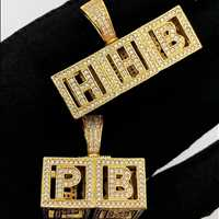 3D baby blocks custom pendants, make yours today at HipHopBling.com