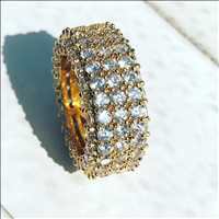 Iced out rings, best shining and best eternity rings for sale at Hip Hop Bling