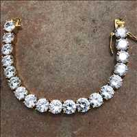 10 MM FIRE iced out tennis bracelet for SALE Hip Hop Bling