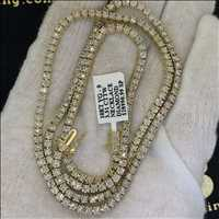 4K dolla diamond tennis chain catch that drip - Hip Hop Bling