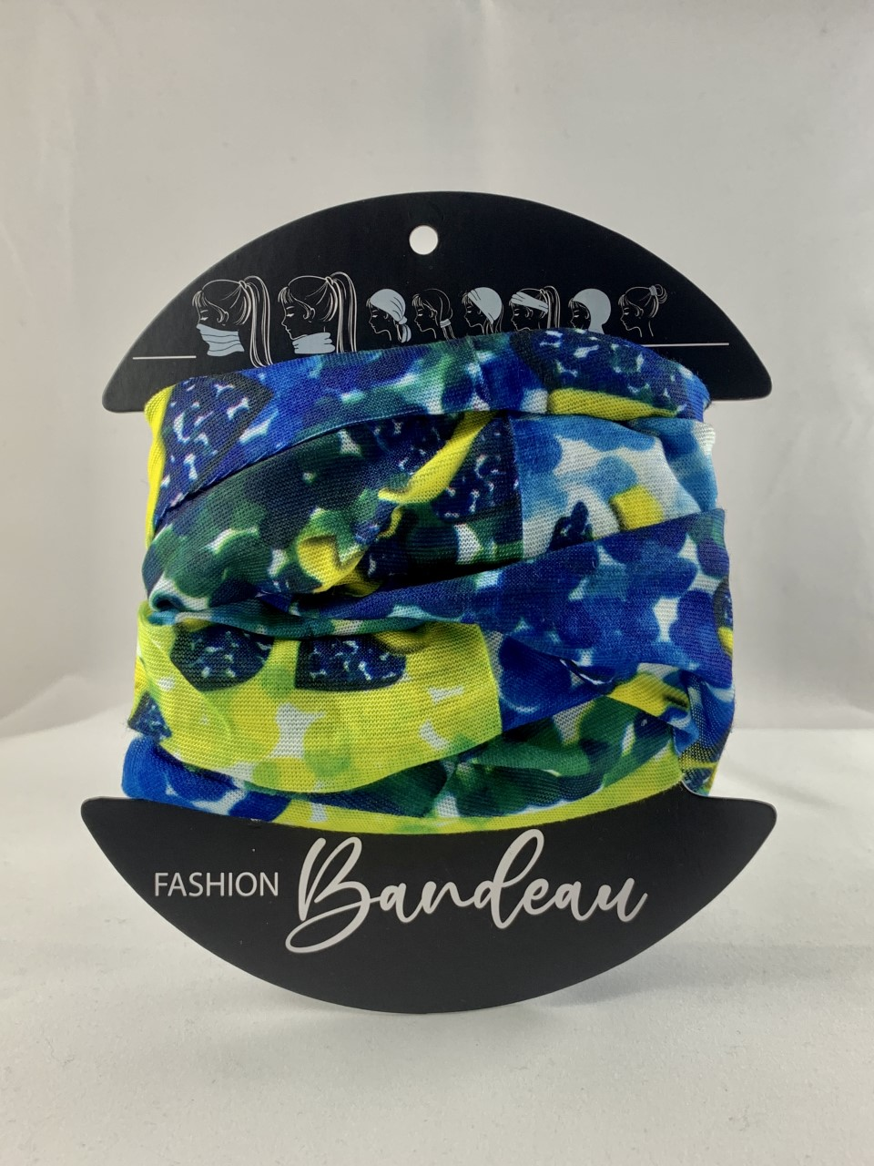 Blue and Lime bandeau masks from Urban CBD Collective