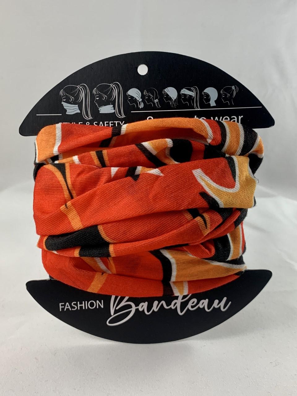 Sunfire Orange bandeau masks from Urban CBD Collective