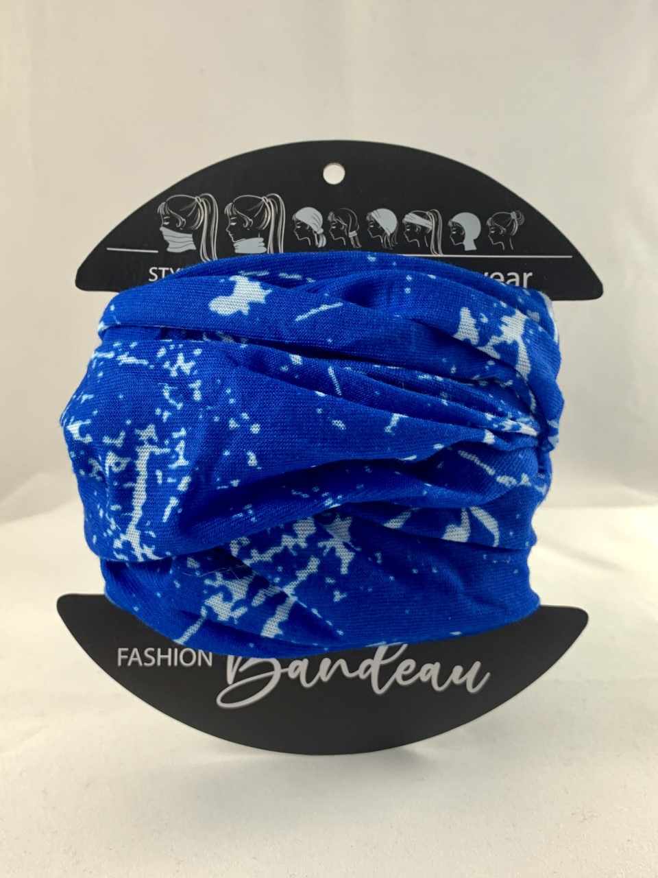 Blue and White bandeau masks from Urban CBD Collective can help you stay safe from COVID-19