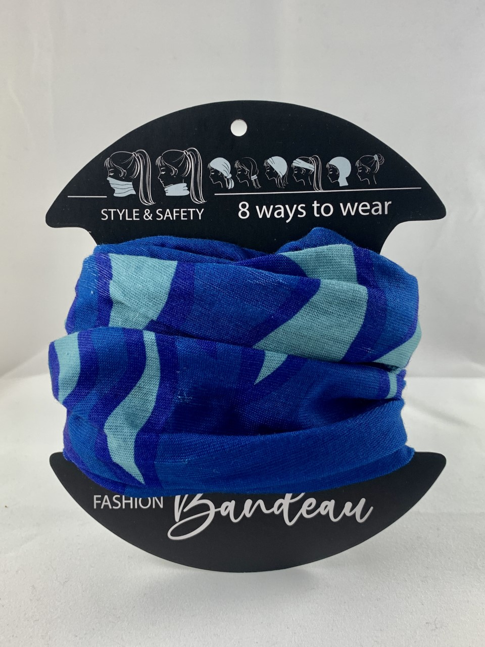 Blue and Ice Blue bandeau masks from Urban CBD Collective can help you stay safe from COVID-19