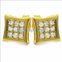 Gold CZ Micro Pave Earrings