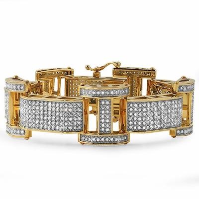 Gold Chunk Stainless Steel Bracelet