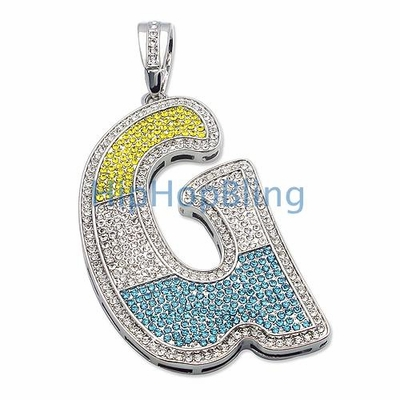 G Color Iced Out Graffiti Initial
