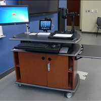 Mobile Ergonomic Furniture For The Office Call SMARTdesks at 800-770-7042