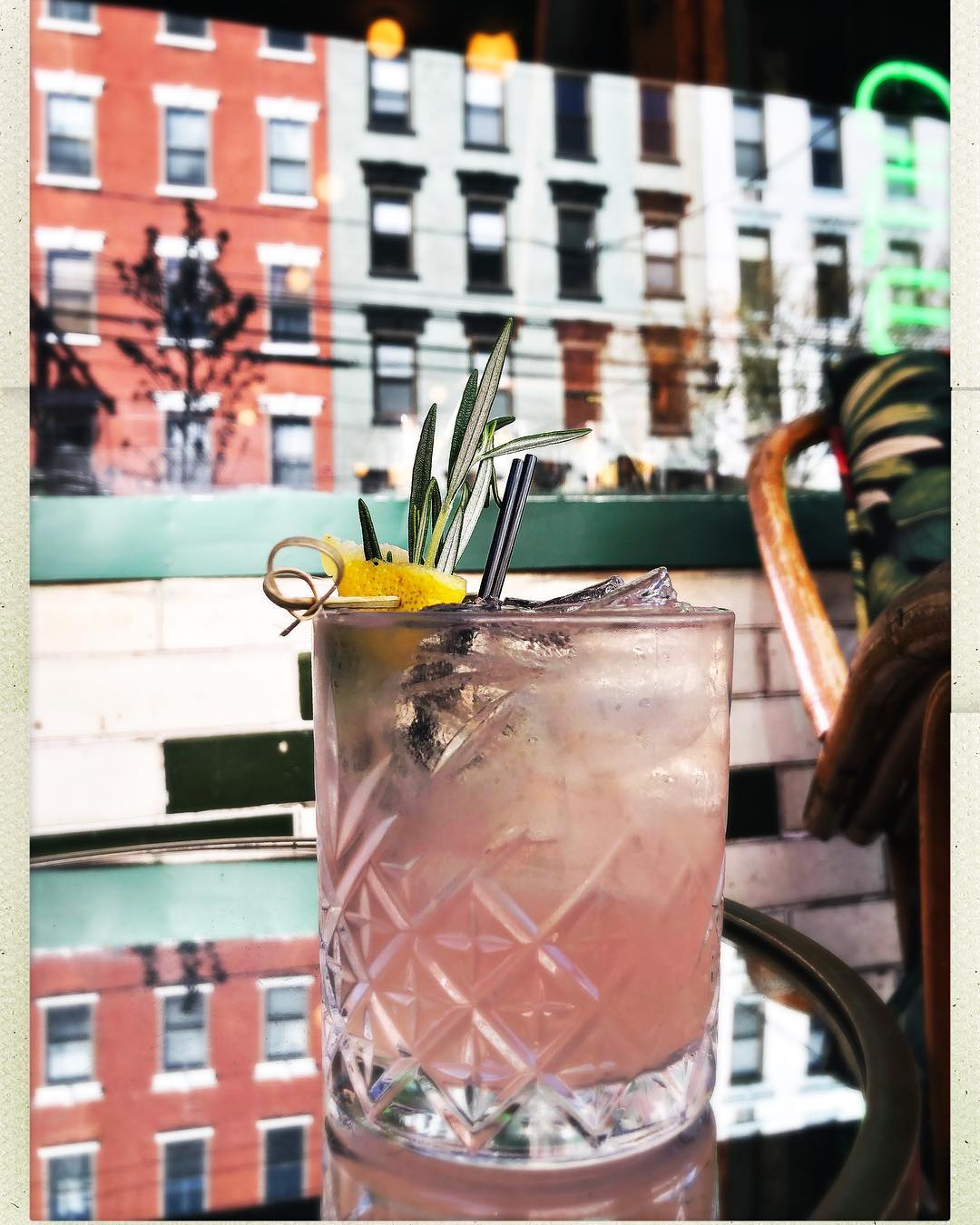 Ramblin Rose Craft Cocktail from Antique Bar and Bakery in Hoboken!