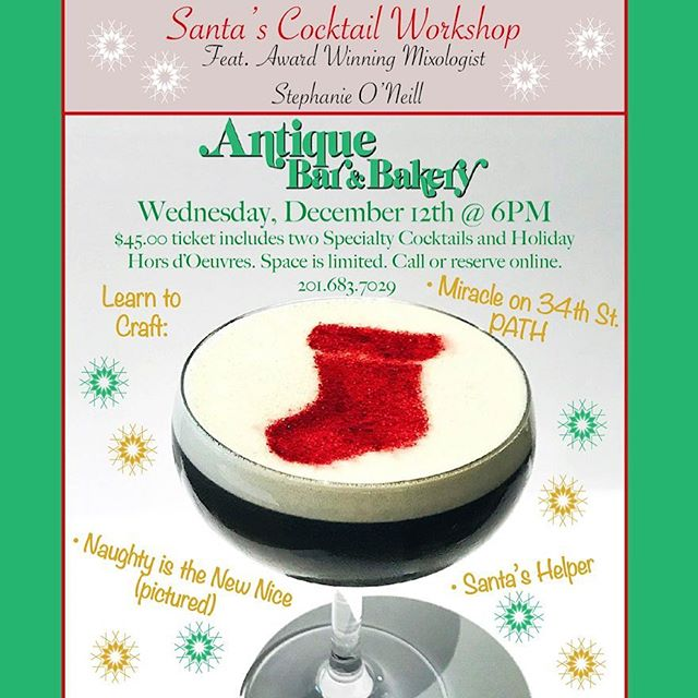 Santa's Cocktail Workshop at Antique Bar and Bakery on sale now!
