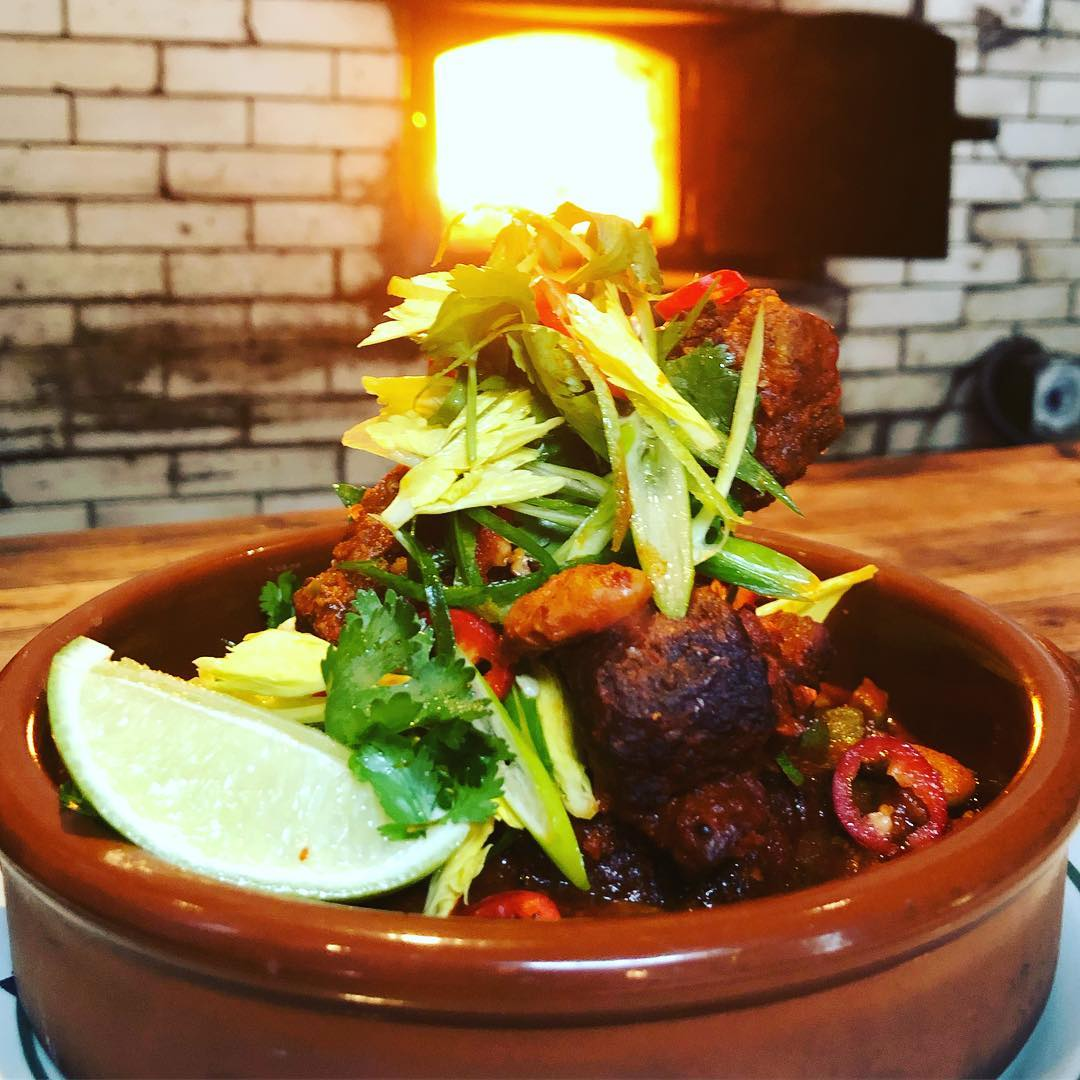 Chili spare ribs, cactus, cranberry beans you can't beat it at Antique Bar and Bakery