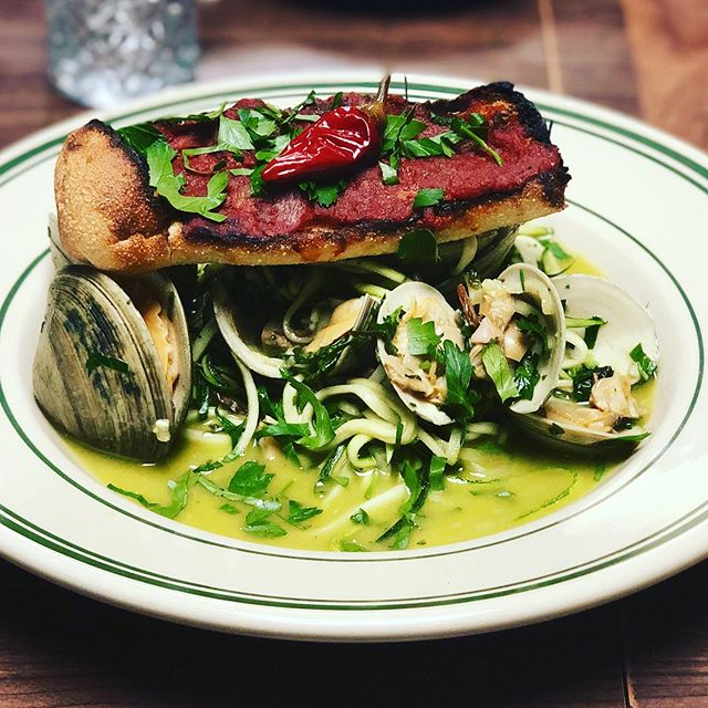 Zucchini anc clam sause! Major hit, thanks for trying it at Antique Bar and Bakery!