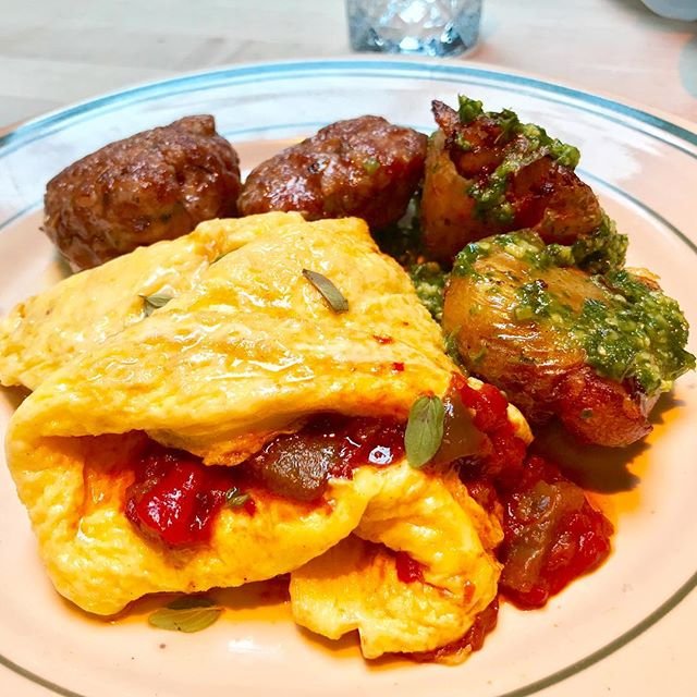 Peppers And Eggs On Point