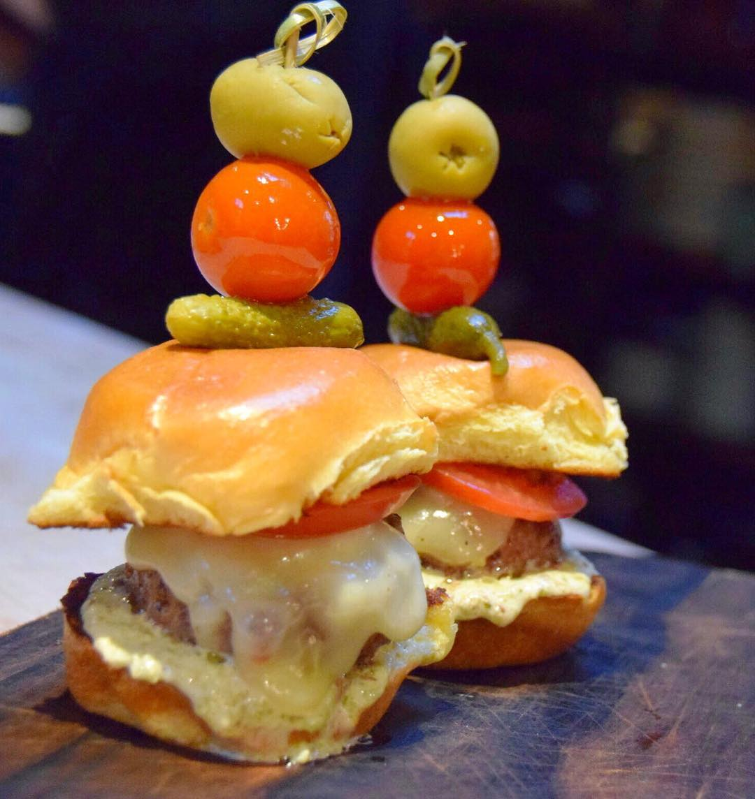 Dirty Burger Sliders at Antique Bar and Bakery!