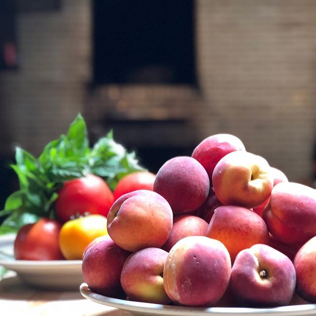 Farm fresh, fresh peaches coming at you from Antique Bar and Bakery